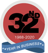 32nd Year in Business
